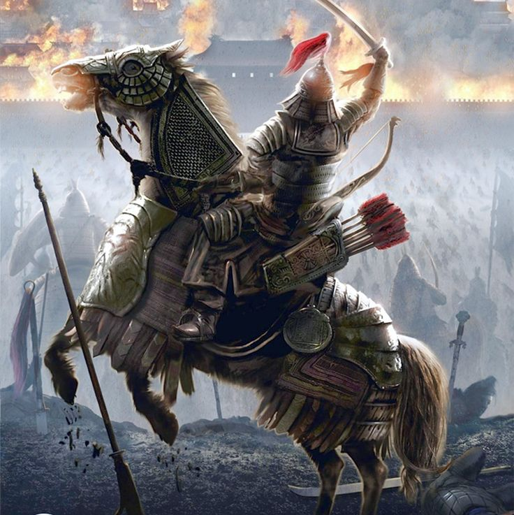 Mongol warrior rearing