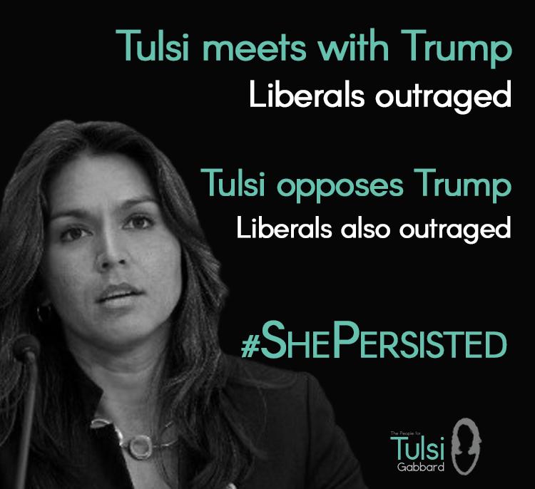Tulsi triggers liberals